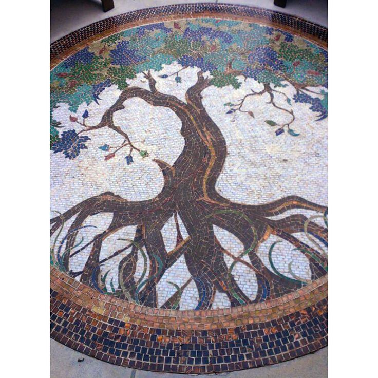 Tree of Life Mosaic Floor by mosaic artist Dyanne Williams