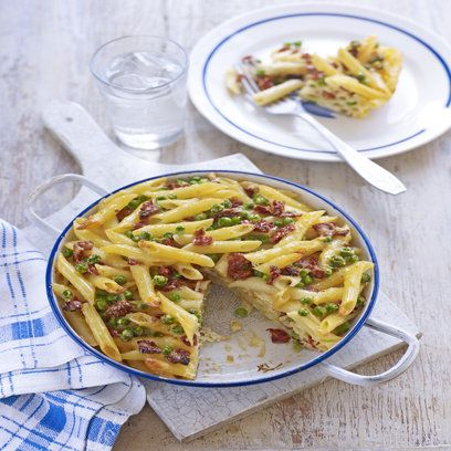 Gino D'Acampo frittata with pasta, tomatoes and parmesan. A heavenly combination. For the full recipe click the picture or visit redonline.co.uk
