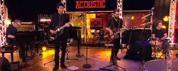 Un groupe éphémère dans #Acoustic, composé de Vincent Delerm, Albin de la Simone, Mathieu #Boogaerts et JP Nataf.