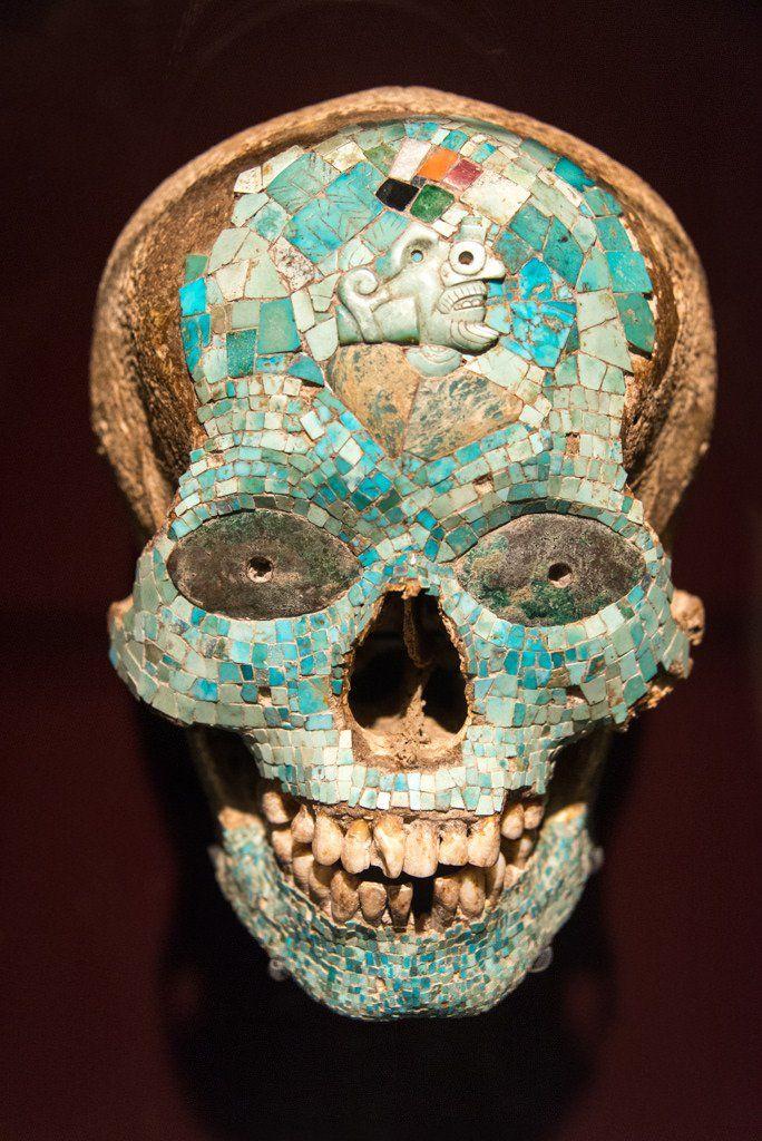 Máscara de XIUTECUHLTI, dios del fuego: 1325-1521 Cultura azteca-mixteca, México