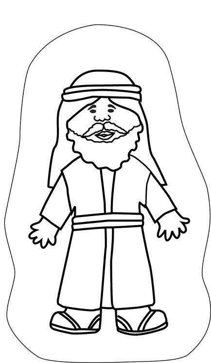 jonah and fish coloring pages - photo#35