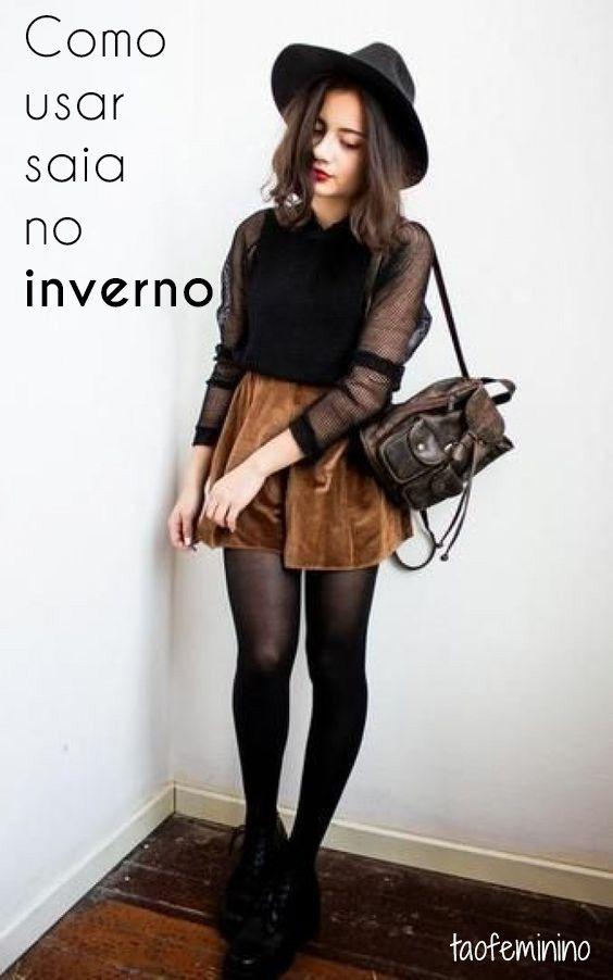 Quer usar saia e ainda ficar quentinha nesse inverno? Nós te mostramos como, vem!