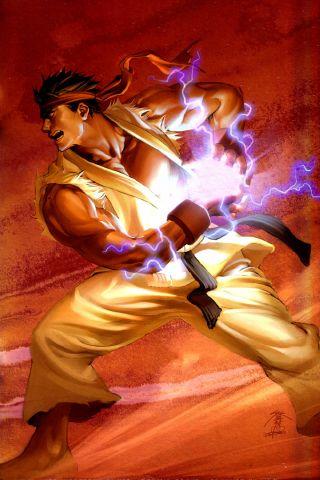 Ryu Hadouken | ryu hadouken iphone wallpaper tweet anime art charge hadouken ryu ...