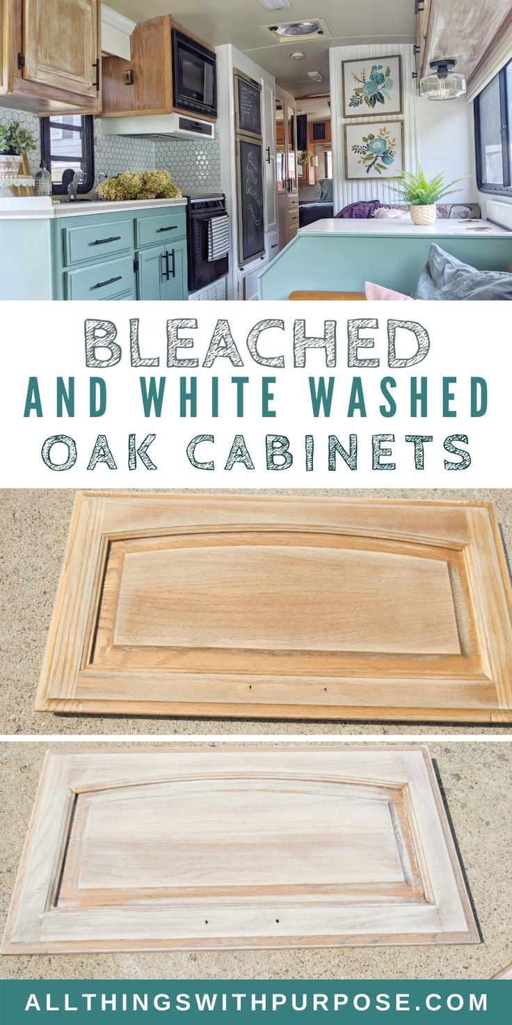 Bleached And White Washed Oak Cabinets, Whitewash Oak Cabinets Stain
