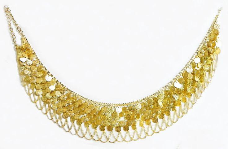 Golden Coin Jhalar Kamarband (Metal))