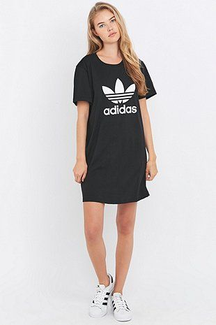 adidas Originals Black Trefoil T-shirt Dress