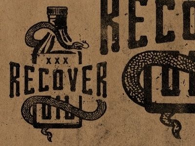 Dribbble Recover Snake Oil by Jeremy Paul Beasley in Country Western Design