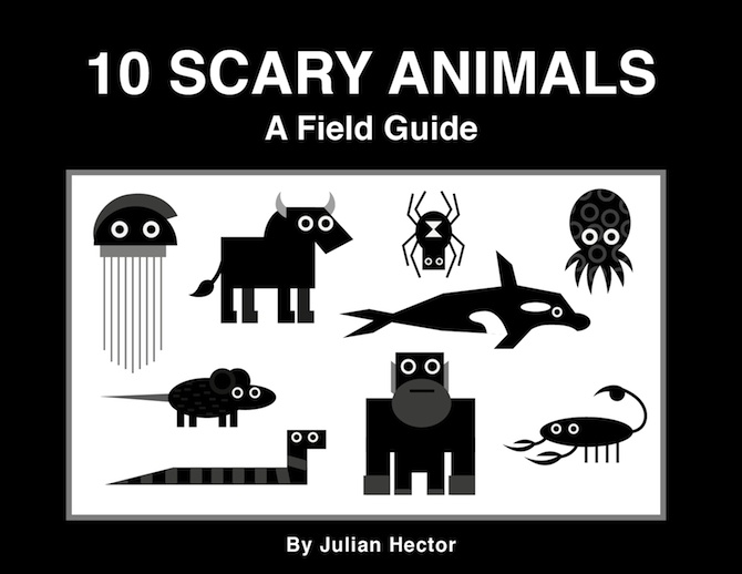 10 Scary Animals a Field Guide - a guide featuring 10 of the world's scariest animals.