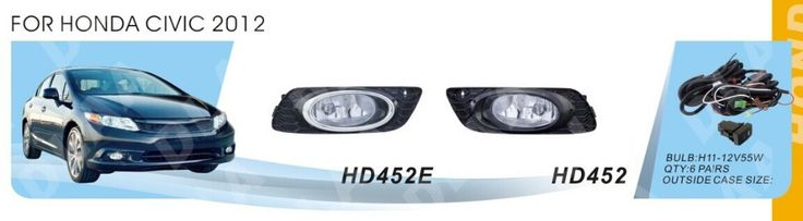 Car fog lamps, light source, safety DLAA fog lamps, suitable for Hond/a CIVIC 2012 / H11 12 V, 55 w