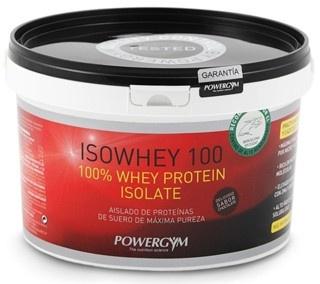 ISOWHEY 100.  100% whey protein isolate.  Suplemento deportivo de aislado de proteínas de suero de máxima pureza.  http://www.powergym.com/es/productos/todos-los-productos/isowhey-100