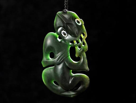 1. Hei Tiki Pounamu (Jade - New Zealand Greenstone)