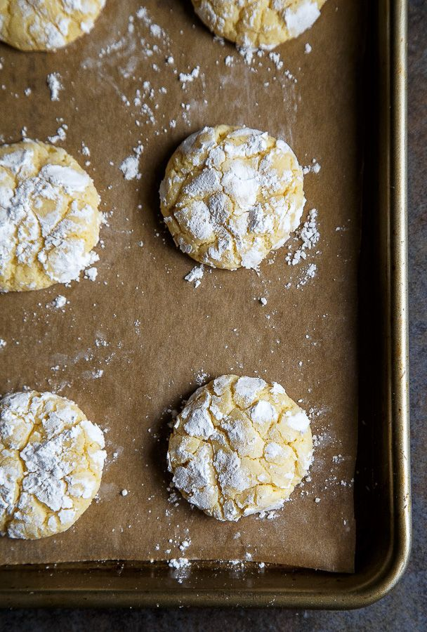 Gooey Butter Cake Cookies (NOT made with a cake mix!) @dessertfortwo