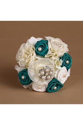 Bouquets de Noiva Incrível Rose Mão-amarrado Bouquets de casamento