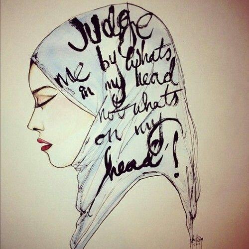 Judge me by what's in my head, not what's on it!