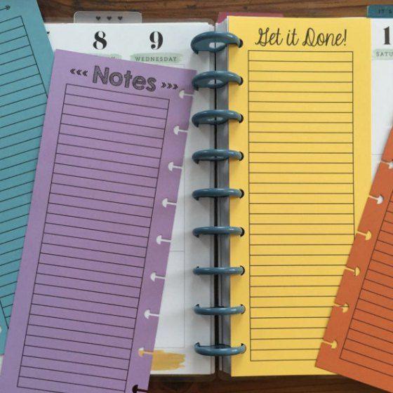 Half Sheet Lists