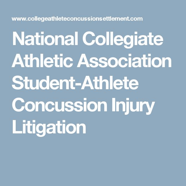 National Collegiate Athletic Association Student-Athlete Concussion Injury Litigation