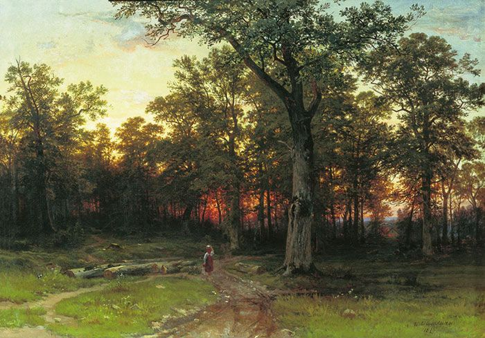 Shishkin, Ivan Evening in the Forest. 1869