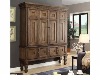 Aria home entertainment center at Freed's Furniture