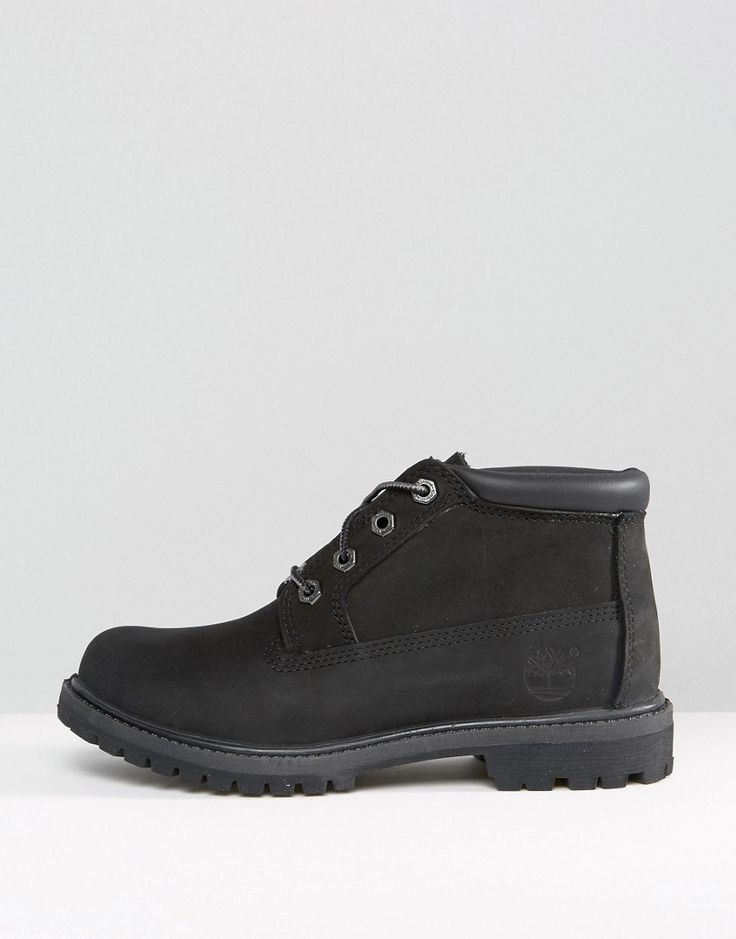 Timberland Nellie Chukka Double Black Lace Up Flat Boots - Black