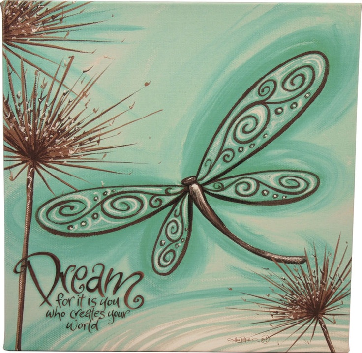 New Lisa Pollock Cute Blue Dragonfly Dream Wall Stretch Canvas over wooden Frame | eBay $40 with free shipping Australia wide...
