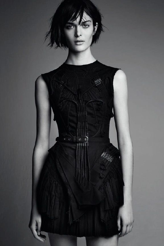 Balenciaga by Nicolas Ghesquière by Patrick Demarchelier -- intricate sleeveless black dress #style #fashion