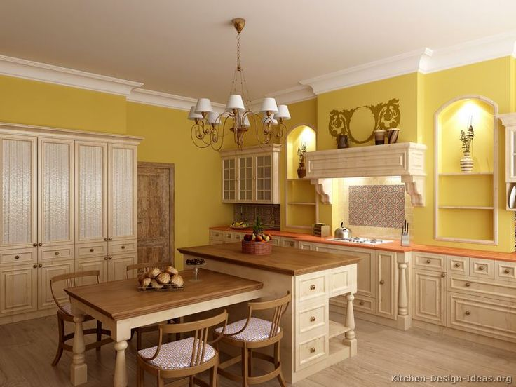 White Cabinets With Yellow Paint, A Little More Muted Though Part 28
