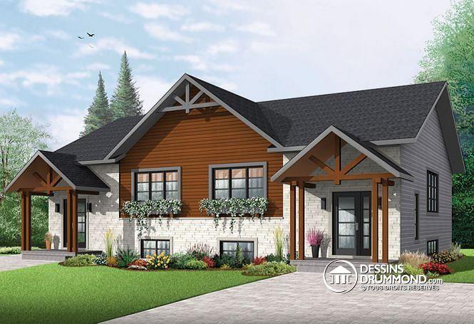 Maison jumel e avec 2 options au r d c 3 chambres et 2 for Plan maison duplex