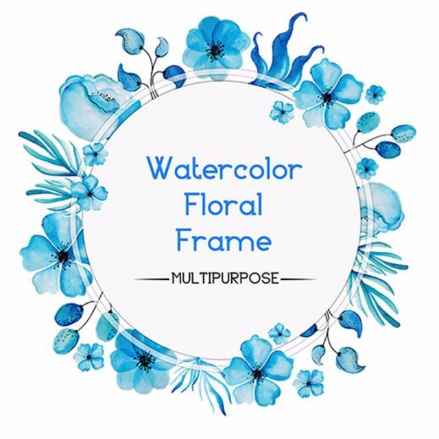 2020 的 Watercolor Floral Frame Watercolor Color Colorful Png