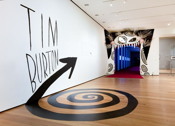 Tim Burton Exhibit entrance - MOMA   The Department of Advertising and  Graphic Design is The Museum of  Modern Art's in-house design studio.