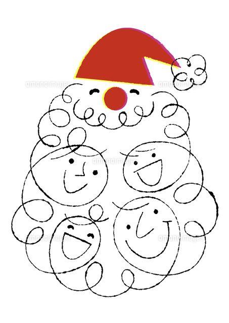 サンタクロースと家族4人の顔 (c)Formmart