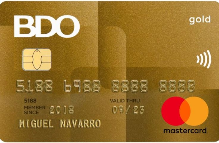 Bdo gold mastercard application with images travel