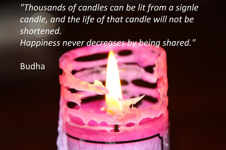 We love this candle pattern as it burns and love the quote.