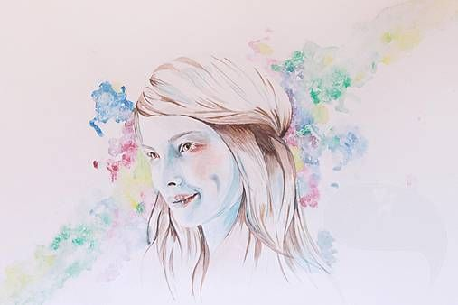 Lulu the Bold PRINT #watercolour #watercolor #painting #portrait