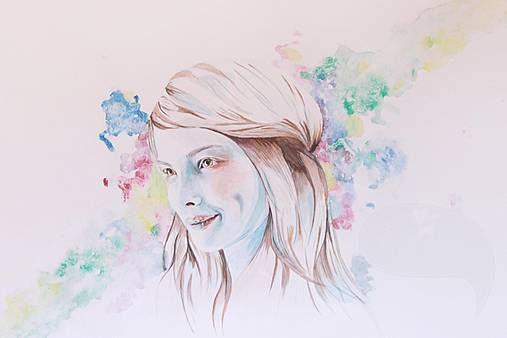 Lulu the Bold PRINT #watercolour #watercolor #painting #portrait