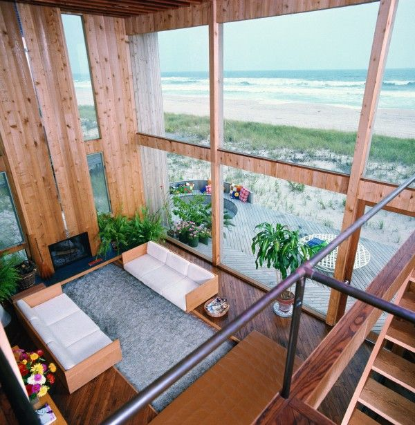 Calvin Klein's Fire Island Pines home, Sloan House, designed by Horace Gifford. Fire Island Pines, NY, 1972