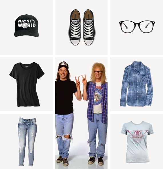 Wayne and Garth from Wayne's World... hmmmm I wonder if this is what we will be this year... ;)