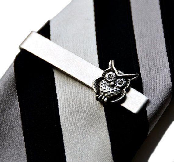 Owl Tie Clip  Tie Bar  Tie Clasp  Business Gift  by Mancornas, $35.00 | See more about Tie Clips, Gift Boxes and Ties.