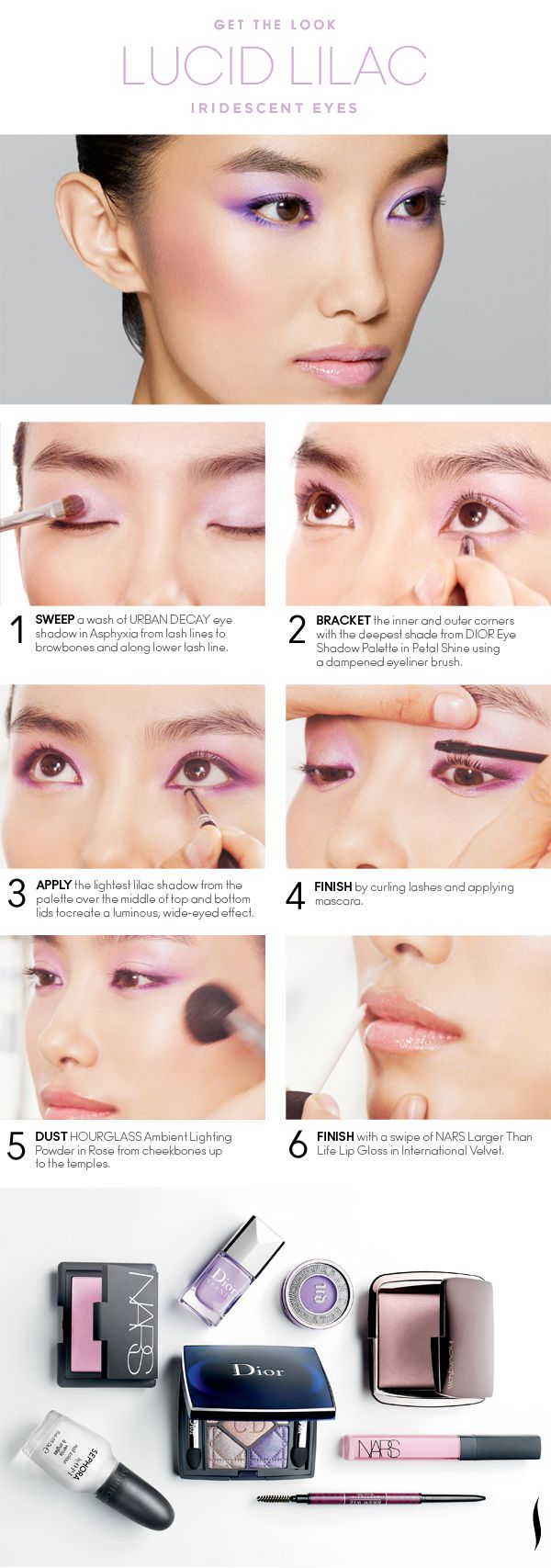 Get the Look: Lucid Lilac Iridescent Eyes