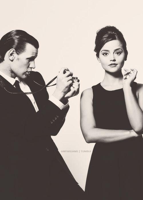 cutest couple. (matt smith + jenna louise coleman)