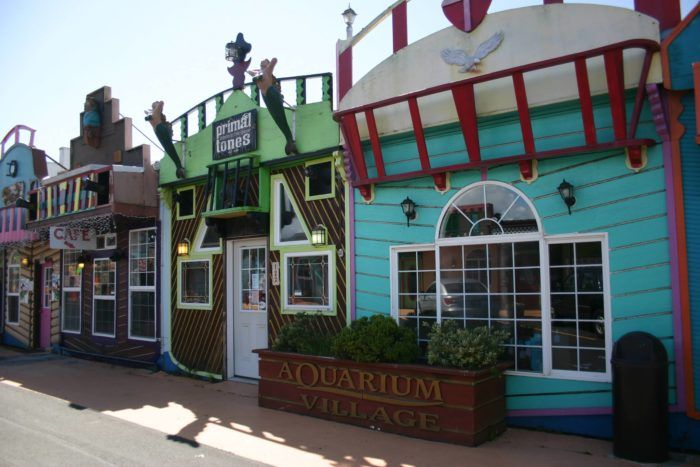 Located just south of the Oregon Coast Aquarium, this quirky shopping center is made up of many charming local shops.