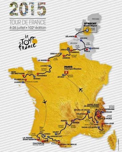 Il #Tour de France 2015 prevede un percorso molto impegnativo con tanta salita e pochi chilometri a cronometro.  Ecco calendario tappe, altimetrie e orari tv  http://www.mondociclismo.com/tour-de-france-2015-calendario-tappe-altimetrie-e-orari-tv20150701.htm  #Tdf2015 #ciclismo #mondociclismo