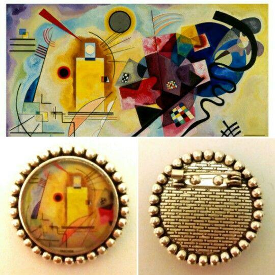 "Broche "" Kandinsky"". (GloriArte143)"