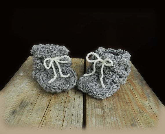Newborn Baby Booties/ Baby Booties/ Knitted by GabriCollection