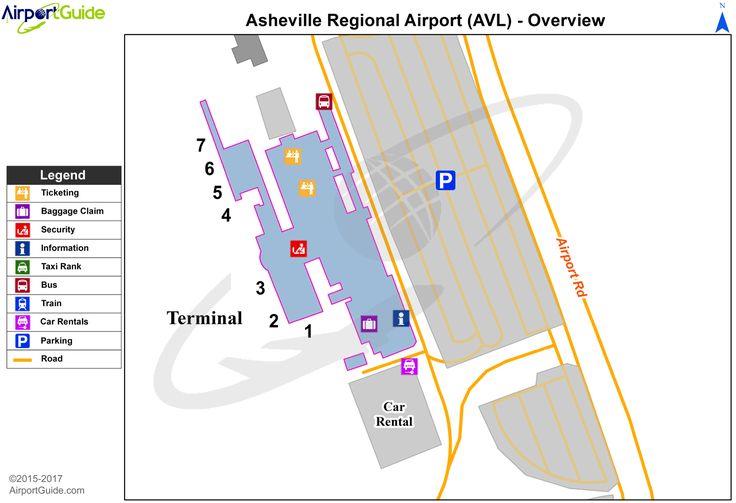 Asheville asheville regional avl airport terminal map
