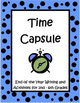 The Time Capsule: Don't Open Until High School Graduation Project by The Teacher Next Door, is a 25 page set filled with everything you need to lead your class through this end of the year project, including detailed teacher notes. I really love this time capsule, as it's a great activity to do during the last week or two, when most kids have shut down for the year. This is an extremely motivating project and it has a purpose…to create your very own time capsule! $
