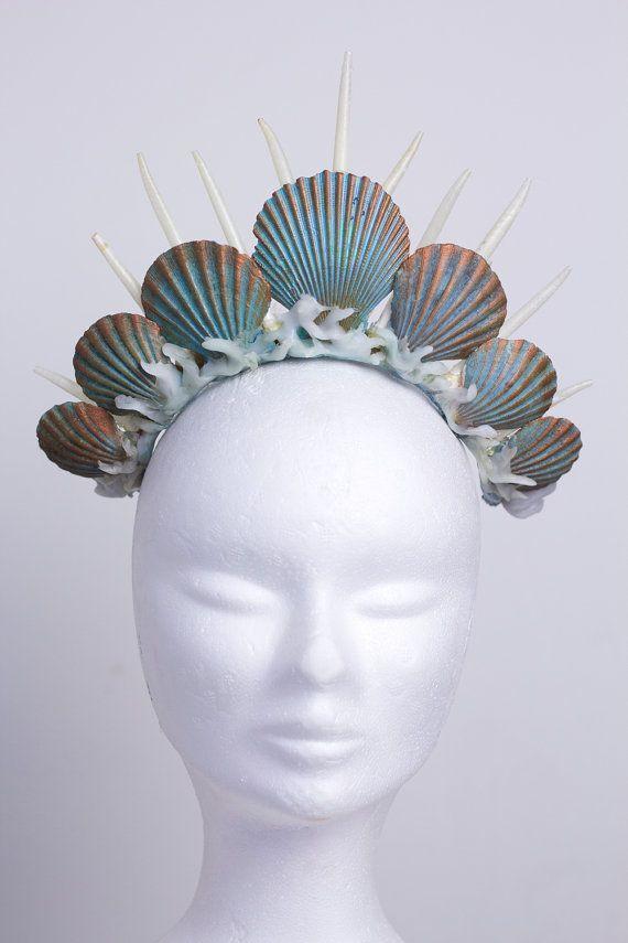 Ähnliche Artikel wie Meerjungfrau Krone Tiara Kopfschmuck Türkis auf Etsy