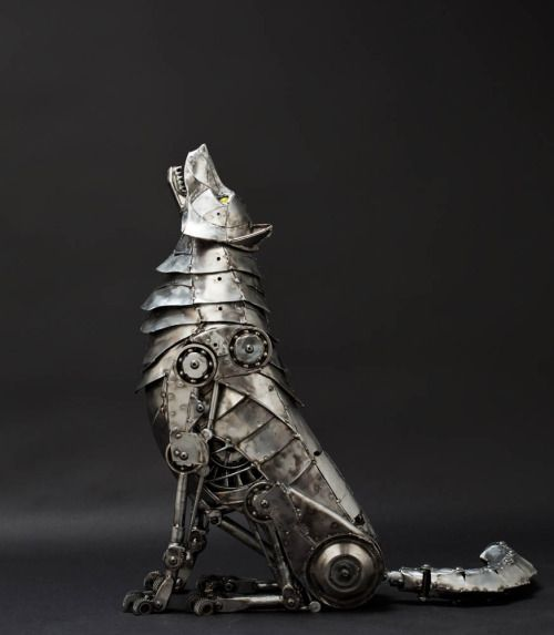 Steampunk Tendencies ~ Mechanical Wolf by Andrew Chase