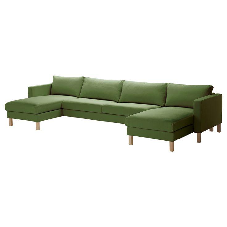KARLSTAD 2 leżanki + sofa 3-osobowa - Sivik zielony - IKEA