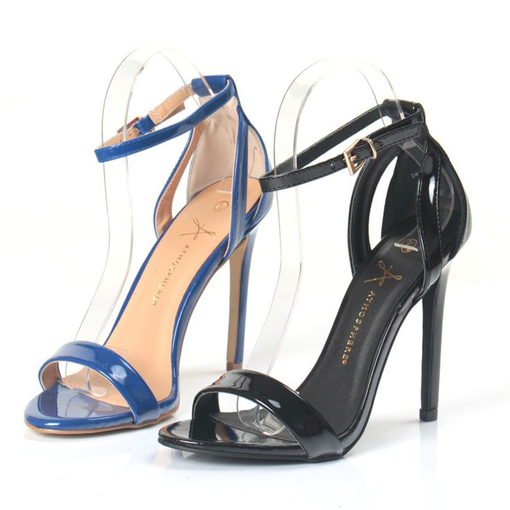 New women sandals European style new summer shoes Sapphire  Black with open-toed high with the word sexy and elegant sandals alishoppbrasil