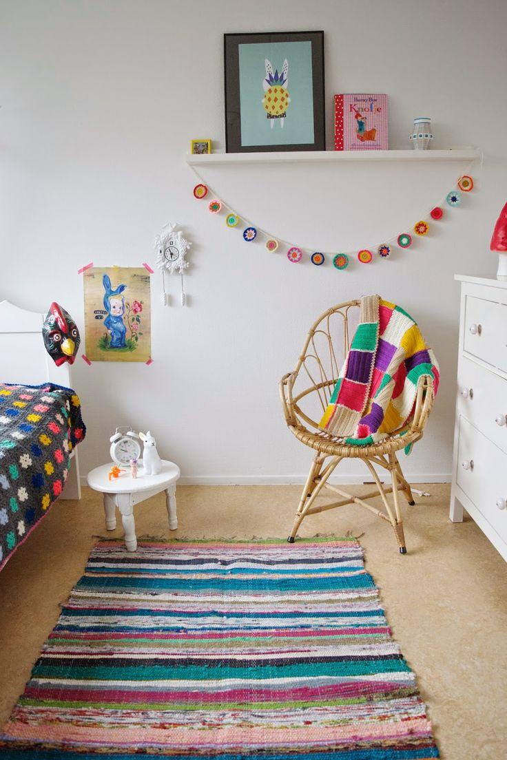 Crochet color bunting | Wimke | Goede ideeën moet je delen!